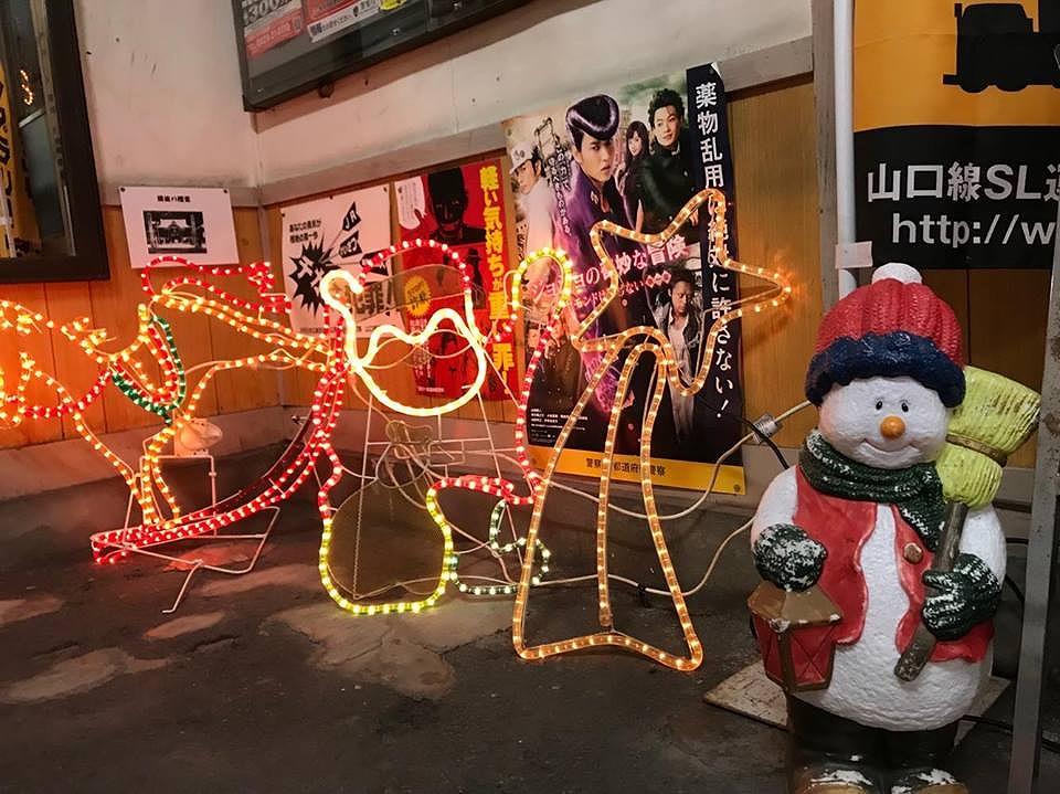 徳佐駅イルミ2017